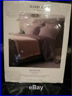 NEW Harrods of London Double Duvet Cover Set Grey