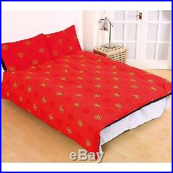 NEW MANCHESTER UNITED FADE DOUBLE Bedding DUVET QUILT COVER SET FOOTBALL