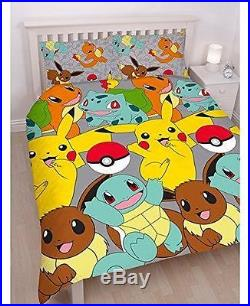 NEW Pokemon Go CATCH Double Duvet Cover Set Rotary Design FAST DISPATCHED