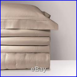 NEW Yves Delorme TRIOMPHE PIERRE brown DOUBLE DUVET COVER & 2 pillow cases set