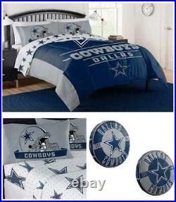 NFL Dallas Cowboys Full/Queen Comforter with Pillow and Full Sheet Set