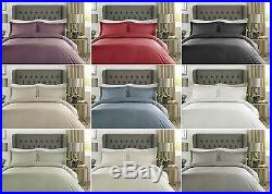 New 100% Egyptian Cotton 400 TC Duvet Cover Bedding Bed Set Satin Stripe Check