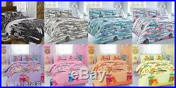 New Duvet Cover with Pillow Case Quilt Cover Bed Set Single Double & King Size