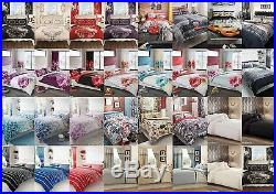 New Duvet Quilt Cover Bedding Sets With Pillowcase Single, Double, King