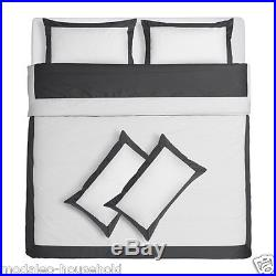 New Ikea KUDDFLOX Stylish Duvet Cover & Pillow cases Bed Set Bedding 3sizes-B789