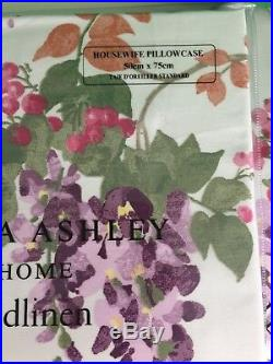 New Laura Ashley Bedding Wisteria Double Set, Duvet Cover And 2 Pillowcases