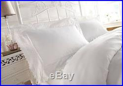 New Luxury Duvet Cover Set Embellished Lace White Double And King Size