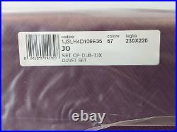 New MISSONI Double bed duvet cover and pillowcases set. JO design in purple 57