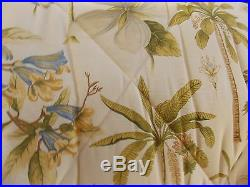 New Williamsburg Catesby Palms Yellow Tropical Palm 4 Piece Full Comforter Set