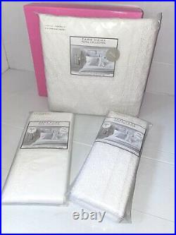 New ZARA HOME Hotel Collection Embroidered Duvet Cover + 2 Pillow Case Sets