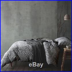 Niko Grey Double Duvet Cover Set in Pure Cotton by Cloth & Clay