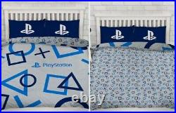 Official PlayStation Gaming Kids Reversible Duvet Cover Set Size DOUBLE
