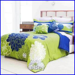 Olive Green Blue Comforter Double Sided Set New Home Bedding Olivera by Intima