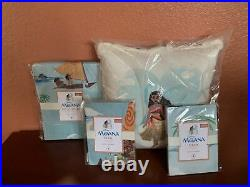 POTTERY BARN KIDS Full Queen Disney MOANA Duvet Set Standard Shams Decal Pillow