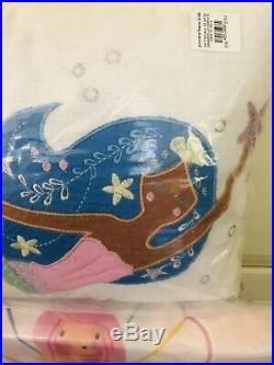 Pottery Barn Kids Gemma Mermaid Full Sheet Set Duvet Shams Decorative Pillow Set