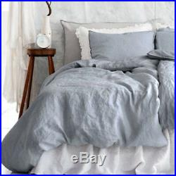 Pre-Washed 100% French Flax Linen Sheets, Quilt Duvet Doona Covers, Pillowcases