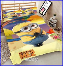 Quick-witted Minion 3D Printing Duvet Quilt Doona Covers Pillow Case Bedding Set