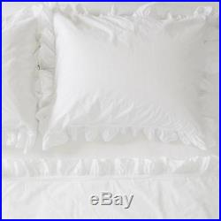 RACHEL ASHWELL COUTURE Queen Duvet Set 3P DOUBLE RUFFLE white SHABBY CHIC