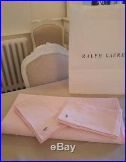 RALPH LAUREN Oxford stripe pink duvet cover set for double with 2 pillow cases