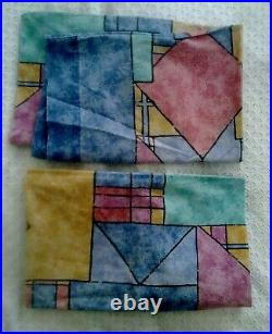 Rare Vintage Retro 80s 90s Memphis Abstract Duvet Bed Covers Set & Curtains