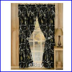 Realtree AP Black Snow Camo Bedding Comforter Set Bed in a Bag With Curtains