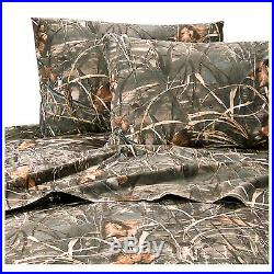 Realtree Max-4 HD Advantage Full Comforter Set withsheets 8pc Duck Camo Grasses