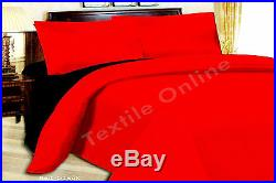 Reversible Duvet Cover with Pillow Cases and Fitted Sheet Bedding Set All Sizes