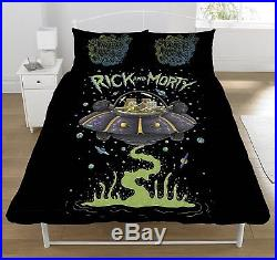 Rick and Morty Ufo Duvet Set, Polyester-Cotton, Multi-Colour, Double
