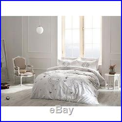 Ruby White Bedding Duvet Cover Set Glow In the Dark 100% Cotton Full Double 4Pcs