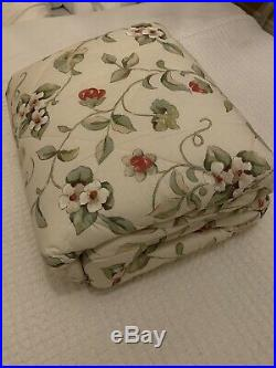 Sanderson Orchard Blossom Double Duvet Cover Set X2 Curtains And Quilted Throw