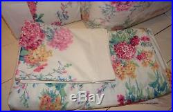 Sanderson Sweet Williams Double Duvet Quilted Bedspread & Curtains Set Brand new