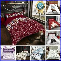 Santa Pug Dog Unicorn Duvet Cover Bedding Set With Pillowcase Quilt Bed All Size