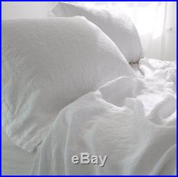 Seriously Comfy French Linen Duvet Set White, Double