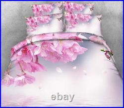 Shy Pear Blossom 3D Printing Duvet Quilt Doona Covers Pillow Case Bedding Sets