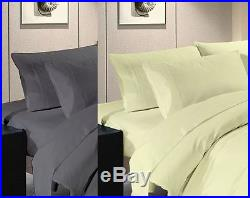 Simple Duvet Cover with Pillow Case Bed Set Single Double & King Size