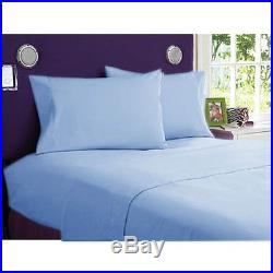 Sky Blue Solid British Choice Bedding Items 1000tc Egyptian Cotton All Uk-sizes
