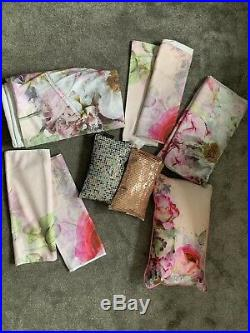 Ted Baker Bedding Pure Peony Double Duvet Set X 2 With 3 Cushions