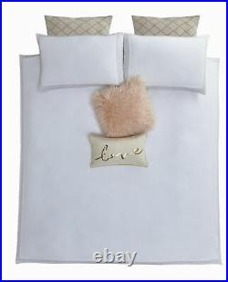 Tess Daly AMBER Rose Gold Detailed Trim Duvet Bedding Set 4 Sizes Or Accessories