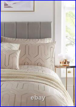Tess Daly Phoebe Blush Embroidered Double Duvet Cover 5 Piece Bedding Set