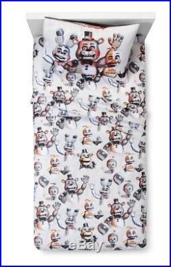 The Five Nights At Freddys Bedding Set Full Size Sheet Set & Quilt & Sham New