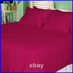 UK Bedding Items All Sizes Hot Pink Stripe 1000 Thread Count Egyptian Cotton