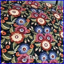 V & A Primula Bedding Set Duvet Cover P. Cases Quilted Throw & Curtains Floral