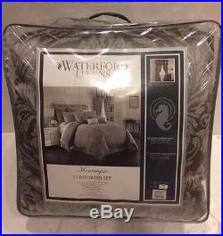 WATERFORD LINENS MONTAIGNE DUAL KING COMFORTER SET with bedskirt 2 king shams