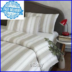 WHITE LINEN BY BELLORA Italian Gallone Double Duvet Set Made in Italy