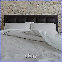 Washed European Flax Linen Blend Duvet Cover Set Brown Striped Soft Fabric