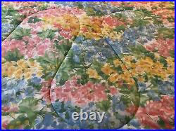Waverly 10 Piece Floral Plaid Reversible Full/Queen Comforter Set Double Ruffles