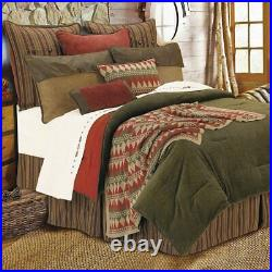 Wilderness Ridge Olive Corduroy Western Country Farmhouse Full 6-Piece Bed Set