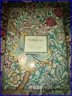 William Morris & Co Golden Lily Fig and Teal DOUBLE duvet + pillow cases