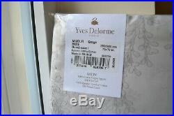 YVES DELORME DOUBLE DUVET SET With 3 PILLOWCASES MIJOUR GREGE NEW 4 PIECES BEIGE