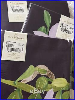 YVES DELORME TIJUCA ENCRE SATIN Duvet Cover Set DOUBLE